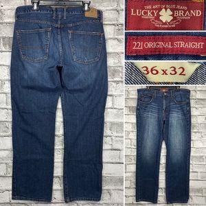 Lucky Brand 221 Original Straight 36 x 32 Jeans